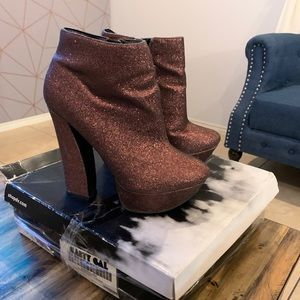Dolce Vita glitter ankle booties